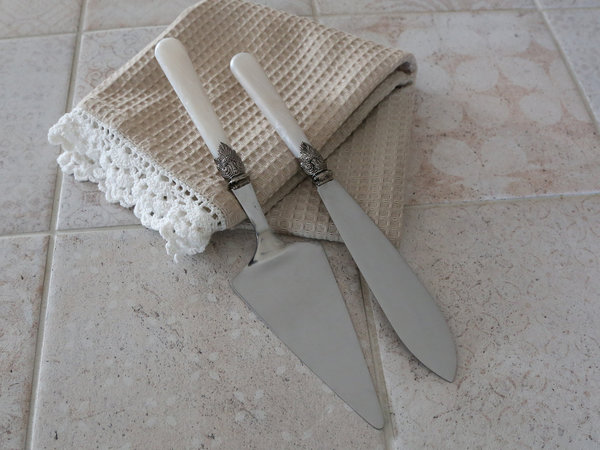 Chic Antique Tortenheber & Kuchenmesser 2er Set