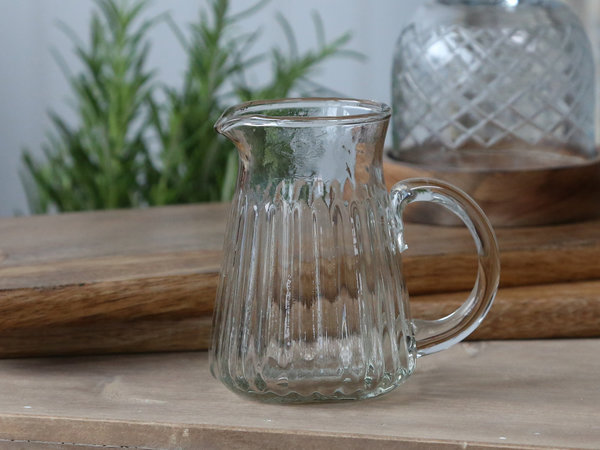 Glaskanne mit Rillen (Chic Antique)