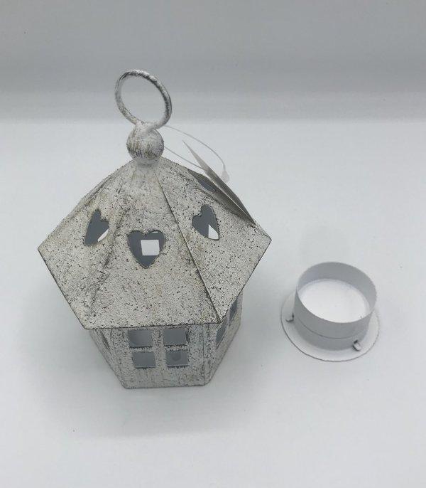 Windlicht Haus Im Shabby Stil Pavillon 6 Eckige Ausfuhrung