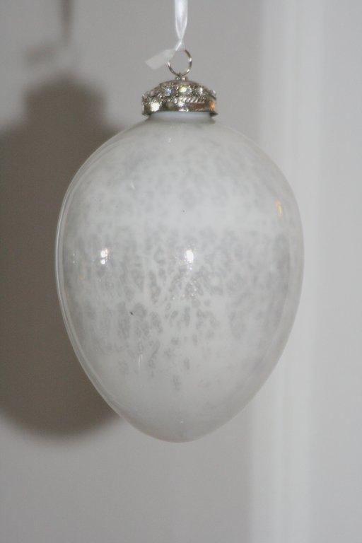 Glas ei nisri 13 cm milky wei - Liebenswert dekorieren ...